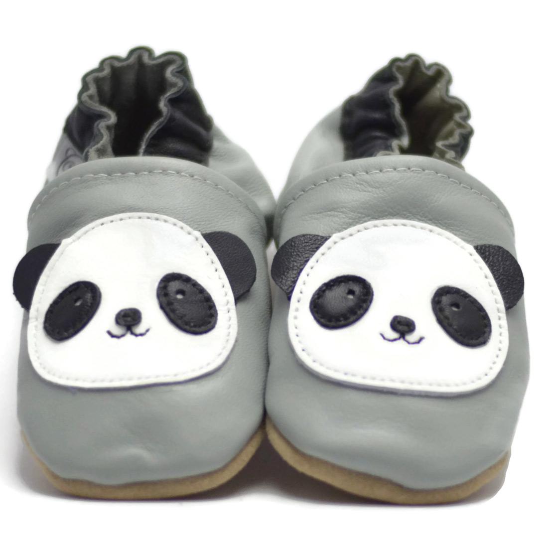 Chaussons ENFANT Cuir Souple 12-18 mois panda R6GWa